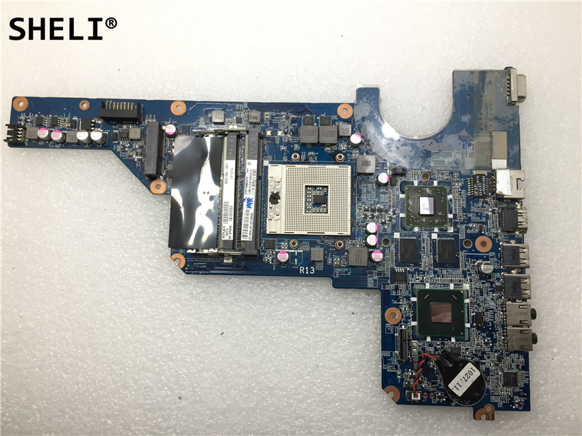 SHELI Pour HP G4-1000 G4 G6 Ordinateur Portable Carte Mère 650199-001 DA0R13MB6E1