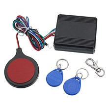 Motorcycle Safe lock system with Engine Cut Off immobilizer IC card Alarm induction invisible anti-steal lock universal
