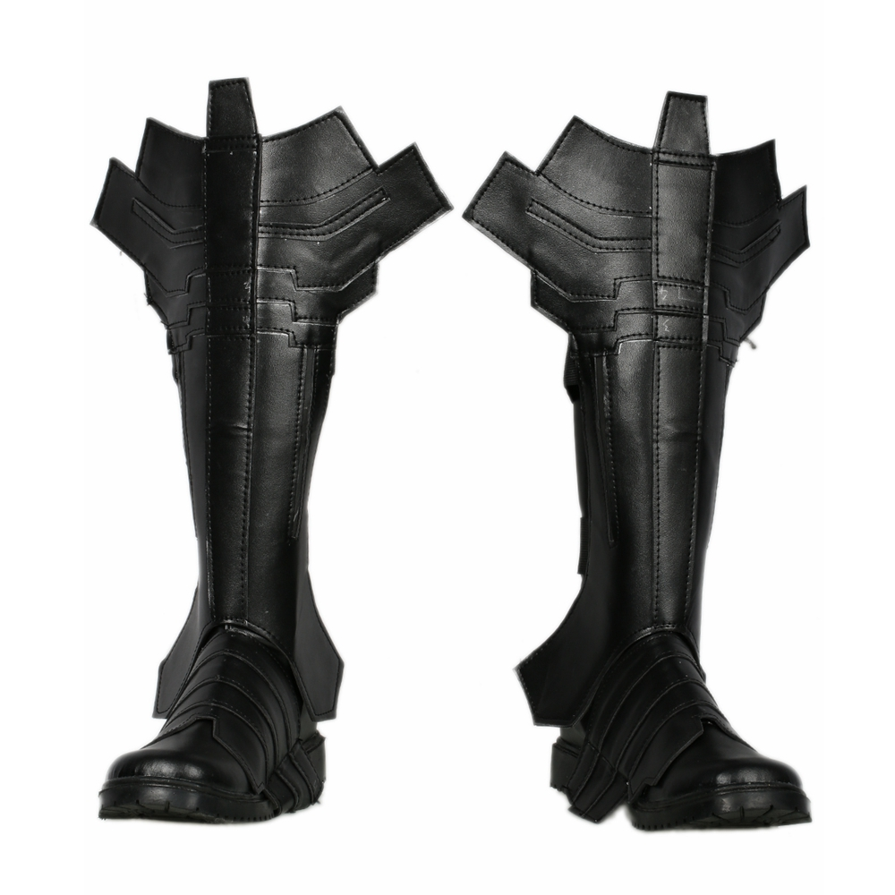 Batman Combat Boots Cosplay Shoes 2018 Halloween Party High Quality Black Leather Movie Cosplay Boots Shoes For Men Women