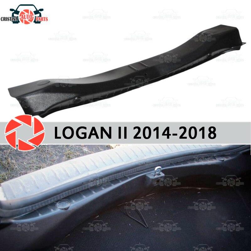 כיסוי על אדן תא מטען עבור רנו Logan 2014-2018 תא מטען אדן צעד צלחת פנימי trim הגנת אביזרי רכב סטיילינג