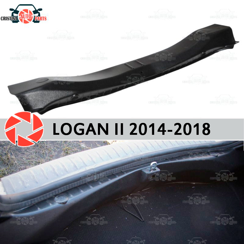 Capa no peitoril tronco para renault logan 2014-2018 tronco peitoril passo placa guarnição interior acessórios proteção estilo do carro