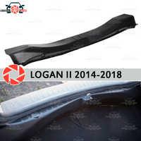 Cubierta en el maletero del alféizar para Renault Logan 2014-2018 Placa de paso accesorios de ajuste interior de protección de estilo de coche