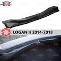 Cubierta en el maletero del alféizar para el coche de la protección de los accesorios interiores de la placa del alféizar del maletero de Renault Logan 2014-2018 estilo