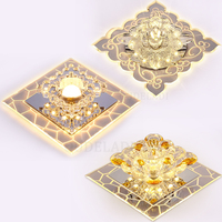 Conduziu a luz de teto cristal quadrado moderno corredor luz varanda quarto sala estar lâmpadas embutidas com