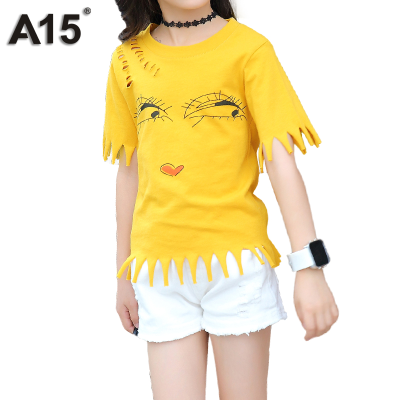 A15 Summer Baby Girls Clothing Sets 2 Pieces Short Sleeve Shirt+shorts Fashion Teenager Cute Girls Clothes Suit Size 4 6 8 10 12