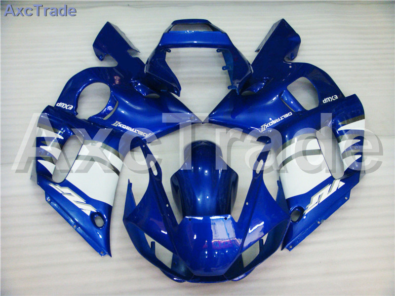 Motorcycle Fairings Kits For Yamaha YZF600 YZF 600 R6 YZF-R6 1998-2002 98 - 02 ABS Injection Fairing Bodywork Kit Blue White high quality abs fairing kit for yamaha r6 1998 1999 2000 2001 2002 yzf r6 yzf r6 98 02 yellow white black fairings set nx27