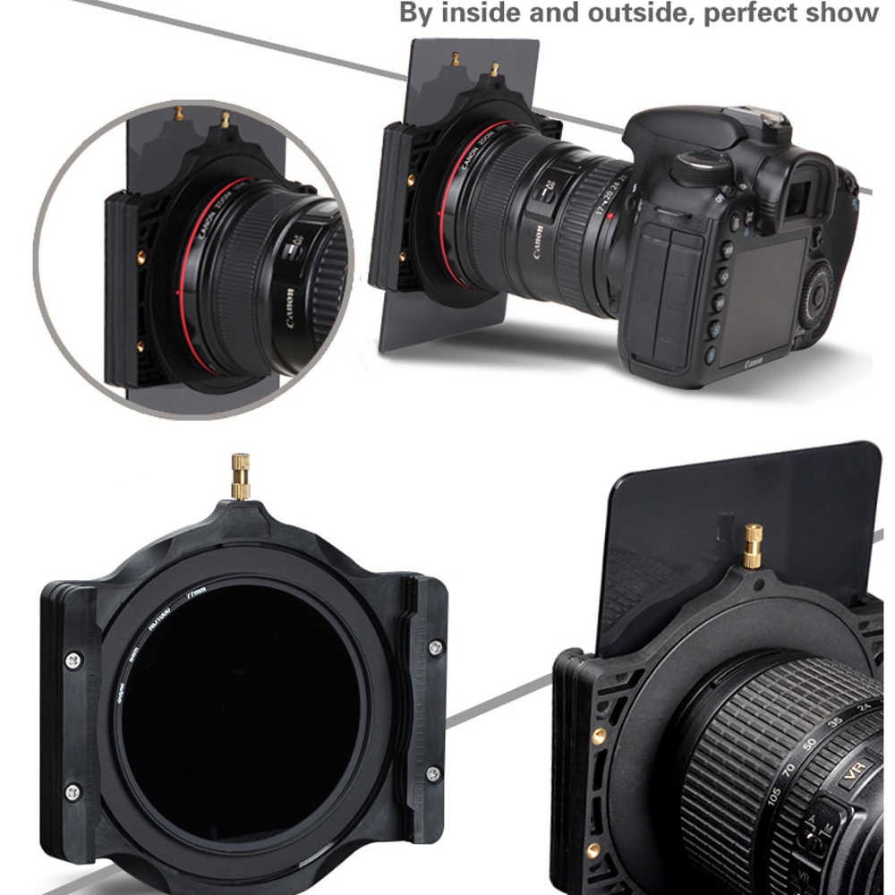 เดินทางสแควร์ผู้ถือ & 67/72/77/82/86mm แหวนอะแดปเตอร์สำหรับ HOYA Zomei Nisi COKIN Berno 100 มม.กล้อง