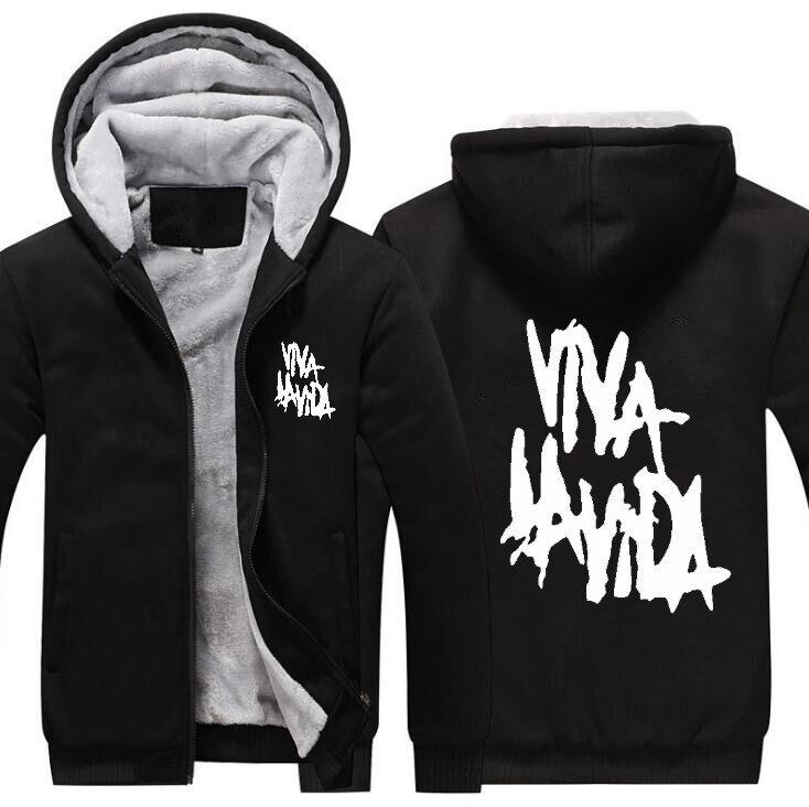 Оптовая продажа; Новинка; куртка с капюшоном рок coldplay Viva la vida свободные Для мужчин куртка с капюшоном из натуральной кожи 4 цвета