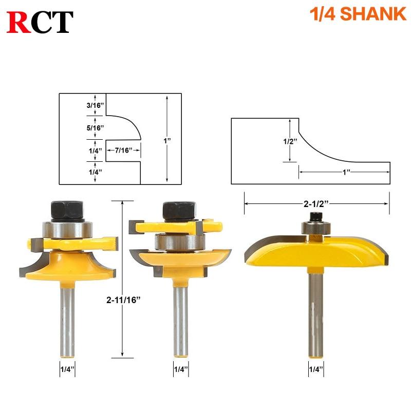 3 pezzi 1/4 Set di punte per barra rotonda e stile Set di utensili - Macchine utensili e accessori - Fotografia 2