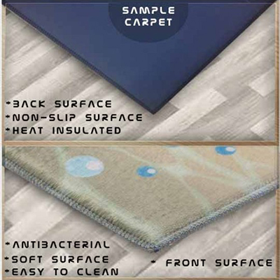 Autre marron bleu jaune géométrique aquarelle 3d impression antidérapant microfibre lavable Long coureur tapis de sol tapis tapis couloir tapis - 2