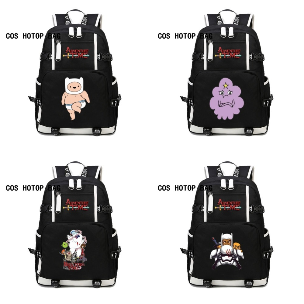 Japan anime Adventure Time Finn and Jake backpack Teenage Backpacks Student School Bag women men Laptop Backpack Travel 10 style