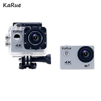KaRue F60/F60R Ultra HD 4K WiFi 1080P Action camera DV Sport 2.0 LCD 170D lens go waterproof pro Hero Style camera Accessories
