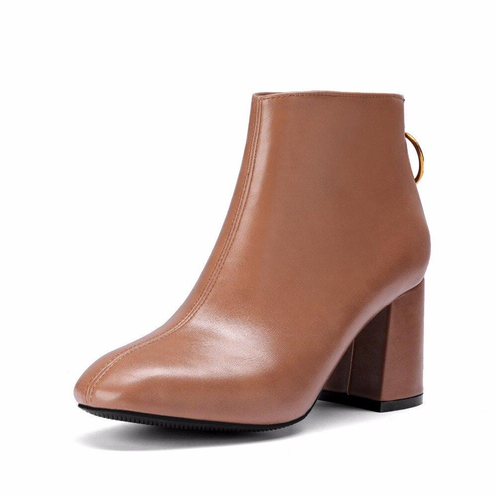 negro Botas Mujer N086 Alto Para Pu Lentejuelas 2018 marrón Con Cuero Beige Calzado De Talón Mujeres Cortas La Botines Del Cremallera Manera RSRvq
