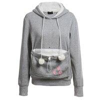 Casual Animal Ear Hoodie Cartoon Hooded Hoodies Lover Cats Kangaroo Dog Hoodie Cool Long Sleeve Sweatshirt