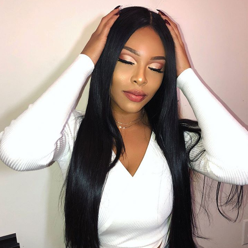 Large Parting 360 Lace Front Human Hair Wigs Pre Plucked Lace Wig Brazilian Human Hair Wigs For Women You May Remy Hair