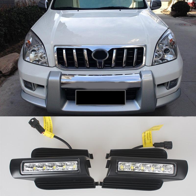 MZORANGE LED feux de jour pour Toyota Prado 120 LC120 GRJ120 2003 ~ 2009 feux de brouillard DRL pare-chocs lumière pièces accessoires