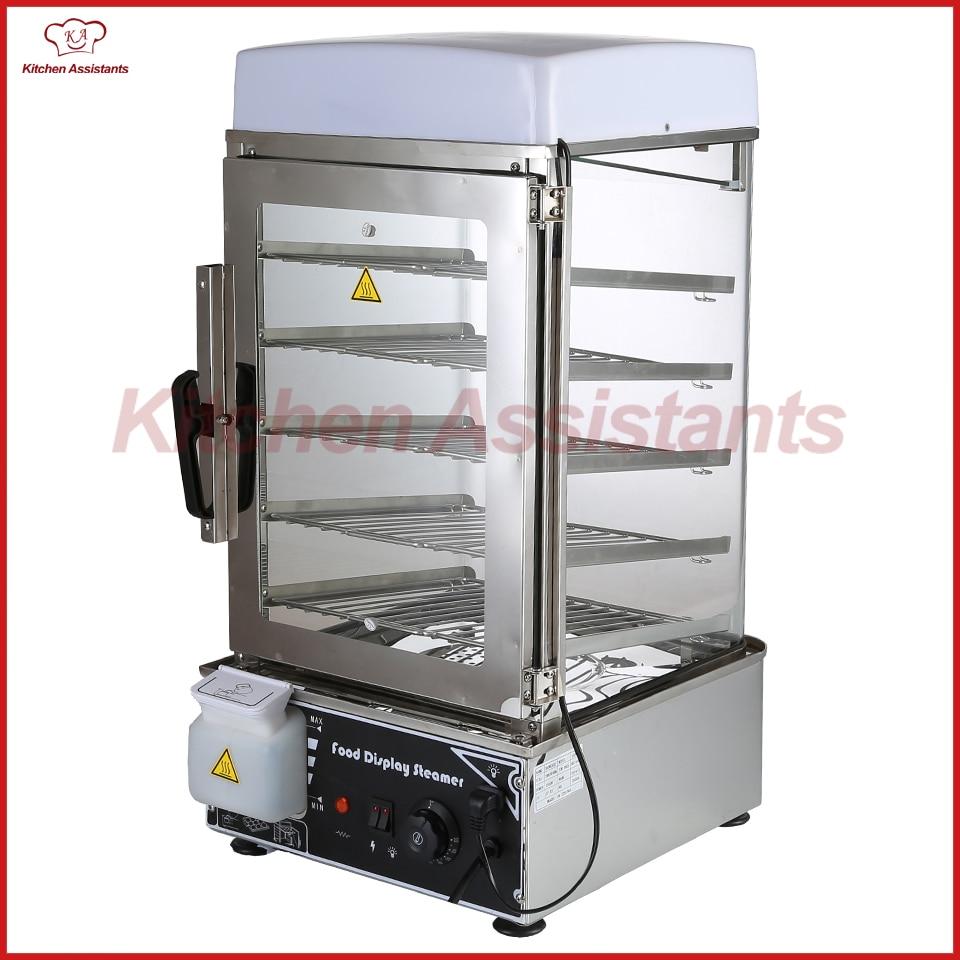KA500C electric stainless steel surrounded toughened glass commerical bun steamer bread steamer bread maker