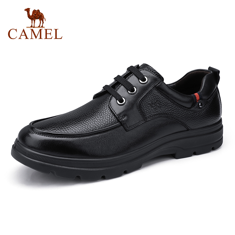 CAMEL Men Shoes Business Men s Casual Genuine Leather Shoes Comfortable Tie Office Dad Shoes High