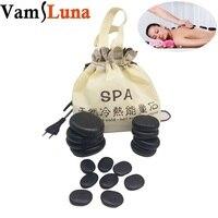 Professional Massage Besalt Hot Stone Set and Gem Massage Portable With 16 Therapy Hot Rocks Massage Stones