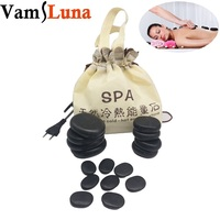 Professional Massage Besalt Hot Stone Set and Gem Massage Portable With 16 Therapy Hot Rocks Massage Stones