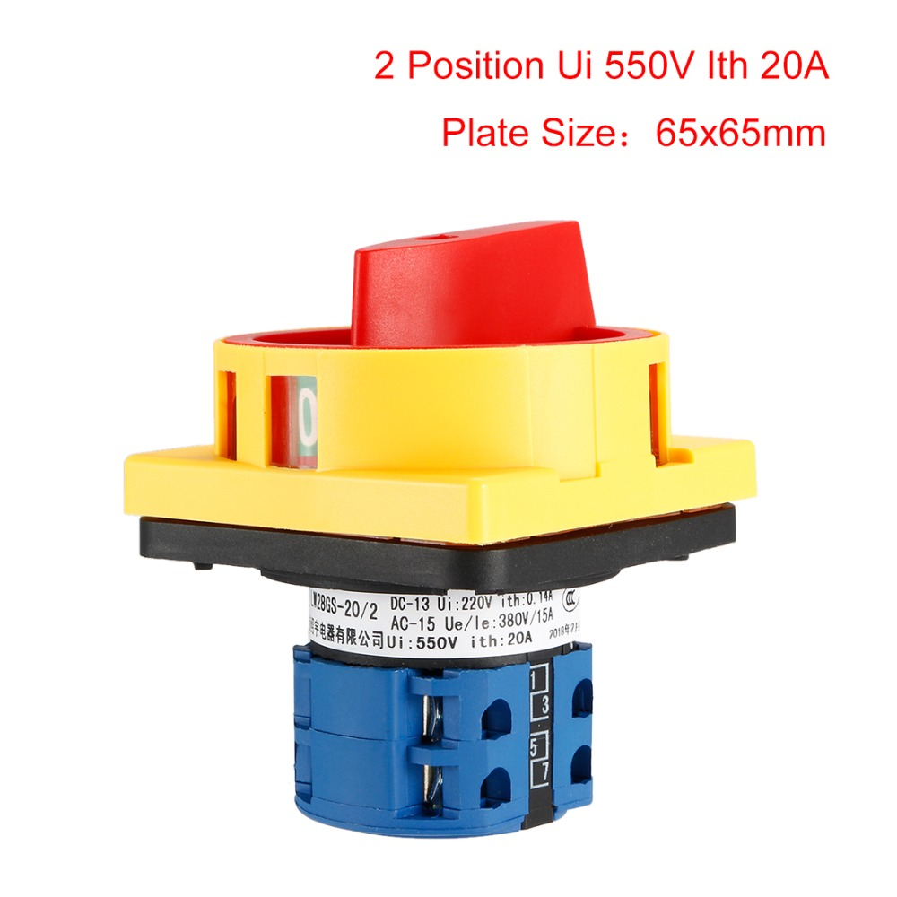 uxcell Changeover Switch 3 Position Rotary Selector Cam Switch Panel Mount 12 Terminal Latching Ui 690V Ith 63A a18042500ux0287