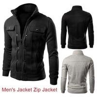 Sweatshirts Warm Zipper Outdoors Men Fleece Faddish Woolen Sport Wear Men Jacket Comfortable Stand Collar Autumn Winter