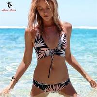 Ariel Sarah Sexy Swimwear Sport Bikini Chest Bandage Swimsuit Women Bikinis Set Push Up Bathing Suit