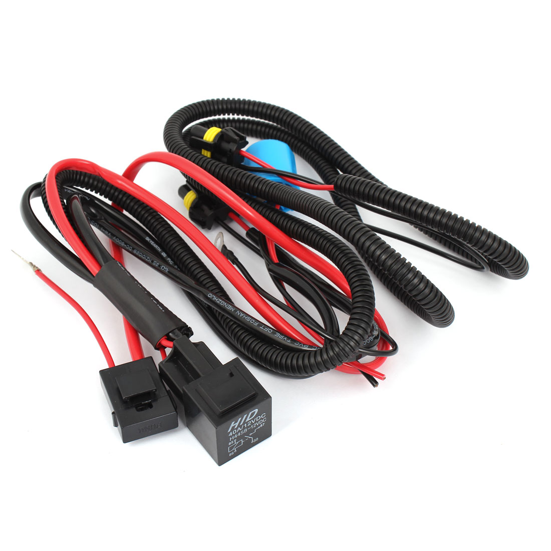 uxcell® DC 12V HID Xenon H4-3 Hi/Lo Controller Relay Harness ... on
