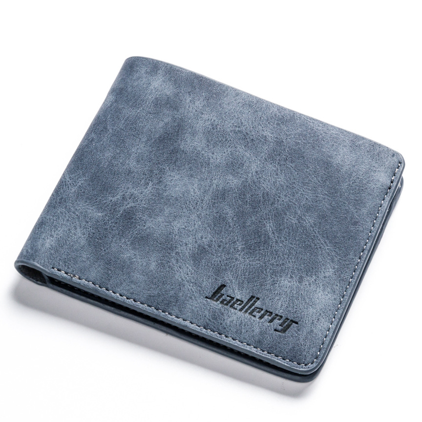 Man Wallet Man short Frosted leather retro Wallet Credit Card Holder Coin Pocket Male Money Billfold Maschio Portafoglio Purse male leather casual short design wallet card holder pocket