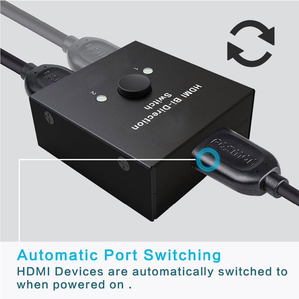 Image 2 - HDMI Splitter Adapter, Mini HDMI Switch Bidirectional Input, HIGH RESOLUTION,Support Ultra HD 4K,3D,1080P, for HDTV/DVD/DVR etc.-in Memory Card Adapters from Computer & Office