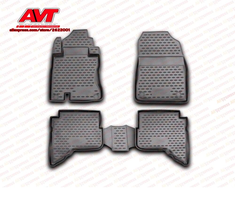 Floor mats for Daihatsu Terios 2006  4 pcs rubber rugs non slip rubber interior car styling accessories|mat mat|terios accessories|mat for car -