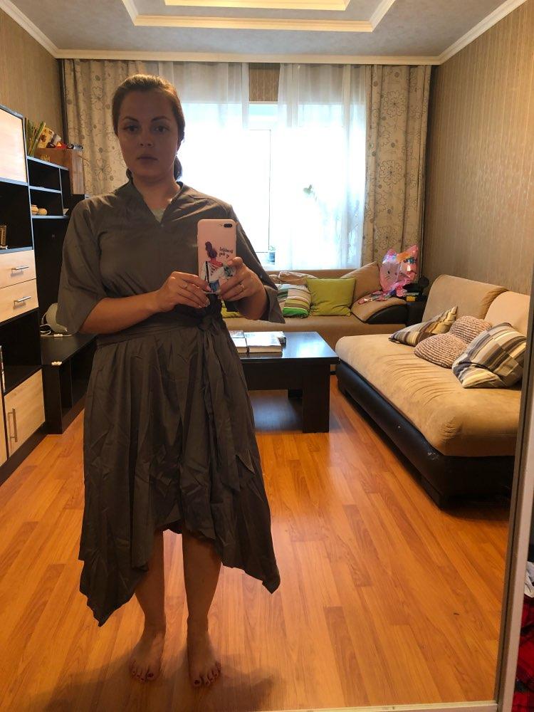 Summer Dress Vintage Long Maxi Dress Women Short Sleeve Sexy V Neck Asymmetrical High Waist Party Vestidos Plus Size photo review