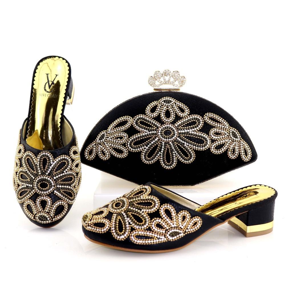 9961ccf3ccd540 Sac Africain Chaussures Et Mis À Sb8202 Pouces Italien Assortir 2 Mode  Africains Bas Talon Design 2 Noir Couleur qIBtxx0w