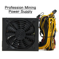 New Minner ETH Bitcoin Mining ATX PLUS Gold Power Supply SATA IDE For 8 GPU Ethereum