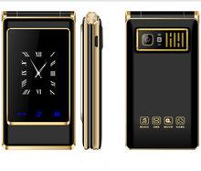 Z podwójnym ekranem słuchawki odwróć telefon z ekranem dotykowym A15 Dual Sim 3.0 ''tanie starszy telefon komórkowy starszy Clamshell Celular