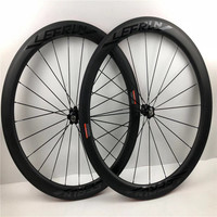LEERUN 38/50/60/88mm Clincher Carbon Wheels Front/Rear Glossy Letter Fashion paint Road Bike Carbon Wheelset Racing Bike/Bicycle