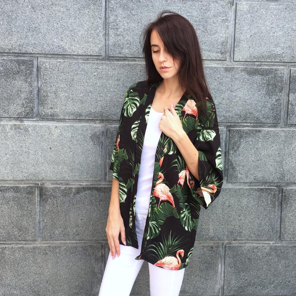 Kimono Cardigan Women 2018 Spring Summer New Airrvals Fashion Floral Print Blouses Women Chiffon Shirts Casual Harajuku Blouse