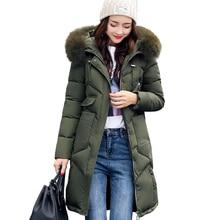 Зимнее женское пальто с капюшоном, меховой воротник, утепленная теплая длинная куртка, Женское пальто для девочек, длинное тонкое большое меховое пальто, куртка-пуховик