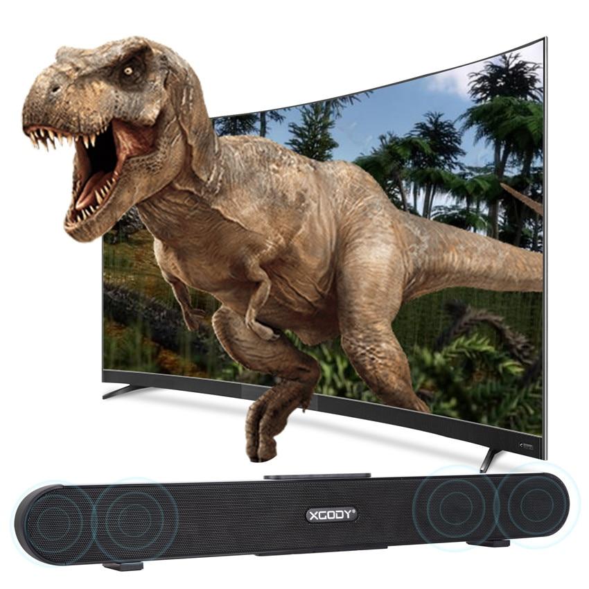 Xgody G XS02 Bluetooth Speaker TV Soundbar 3D Stereo Surround Subwoofer Wireless Audio Speaker Aux Home Theate Portable Speaker