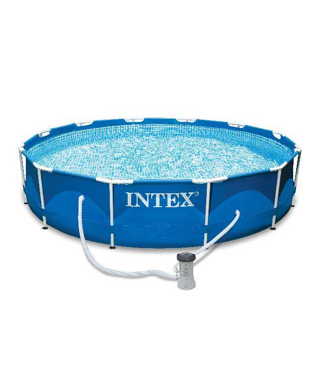 Scaffold Round Swimming Pool Summer For Garden Outdoor Leisure Summer 305x76 Cm, 4485 L, Intex, With картриджным Filter, Item No. 28202np