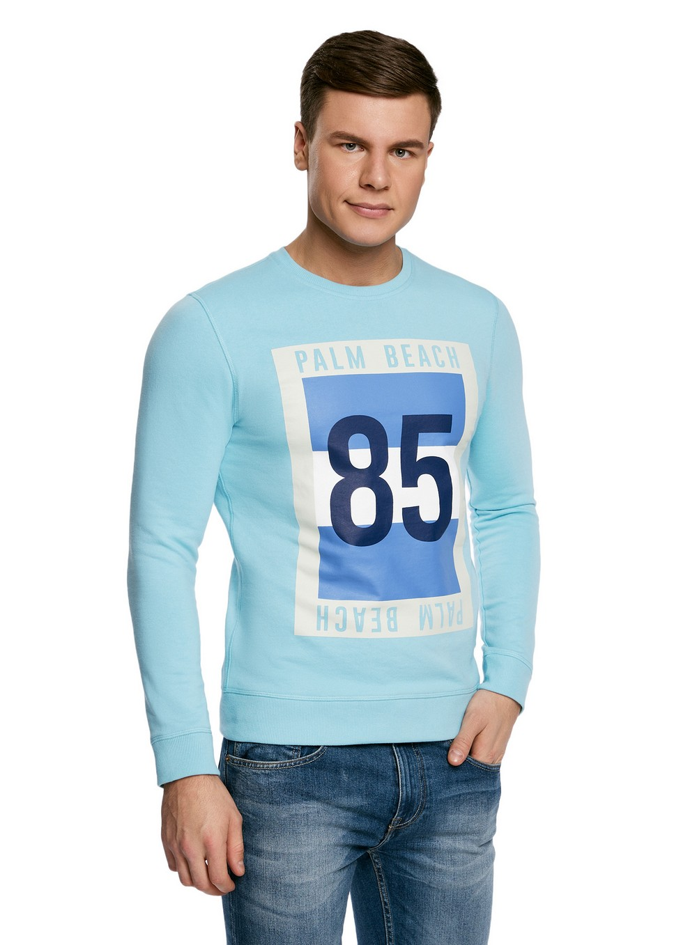 Sweatshirts  for men 5L113086M-44382N black lantern sleeves sweatshirts