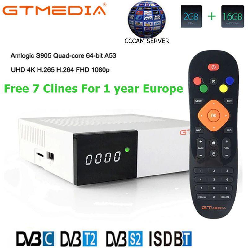 Original Freesat GTC Receptor DVB S2 DVB C DVB T2 ISDB T Amlogic S905D Android 6.0 TV BOX 2GB RAM 16GB ROM Wifi 2.4G+BT4.0 Top-in Satellite TV Receiver from Consumer Electronics