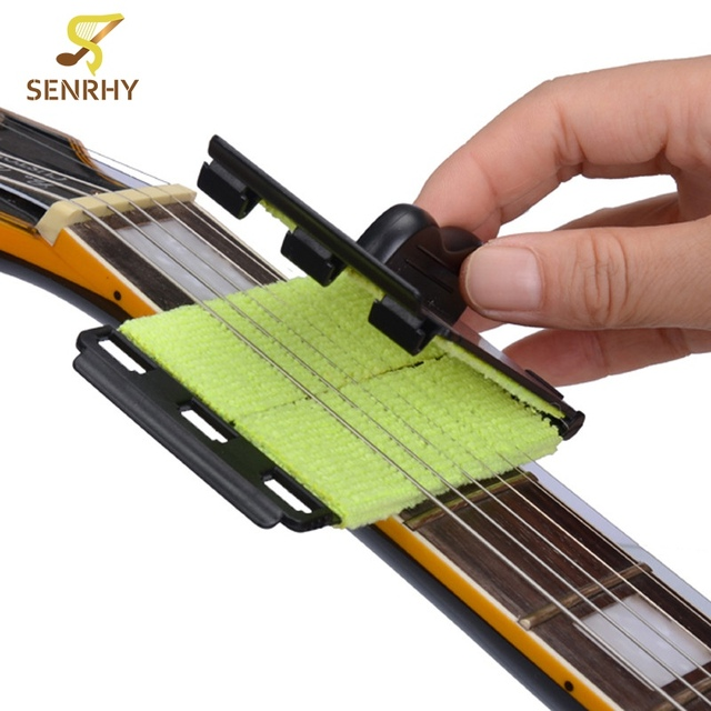 Electric Guitar Bass Strings Scrubber Fingerboard Rub Cleaning Tool Maintenance Care Bass Cleaner Guitar Accessories Sports & Entertainment Stringed Instruments