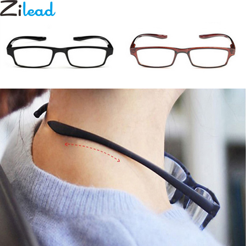 Zilead Reading Glasses Ultralight Comfy Presbyopia Anti-Fatigue Women Hanging Stretch