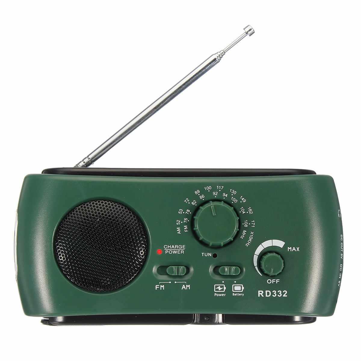 ラジオ FM AM クランク太陽光発電緊急ラジオ世界レシーバ