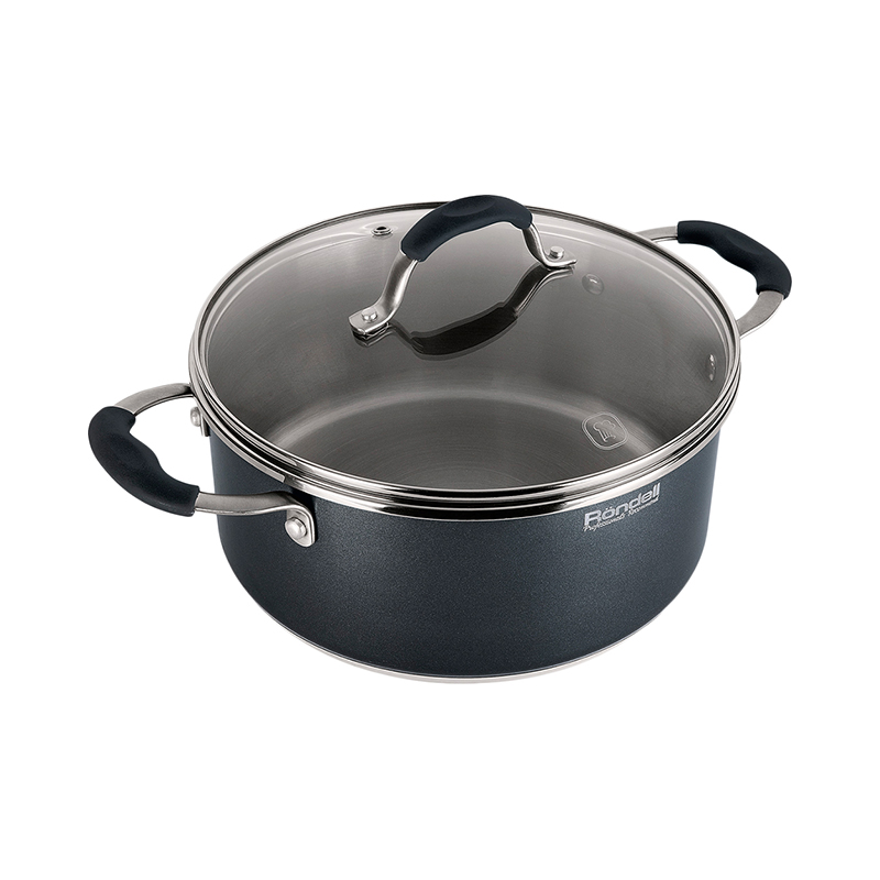 Casseroles Rondell Stern RDS-019 pot lid Cookware for kitchen Casserole Dinnerware tableware кастрюля rondell rds 019 stern