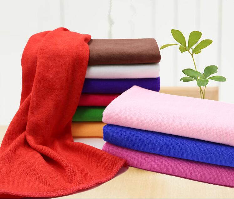 Microfiber Hand Towels: 50pcs Square Soft Microfiber Towel Car Cleaning Wash Clean
