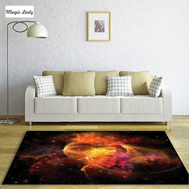 Teppiche Schwarz Rot Orange Raum Dekoration Kollektion Weltraum Star ...