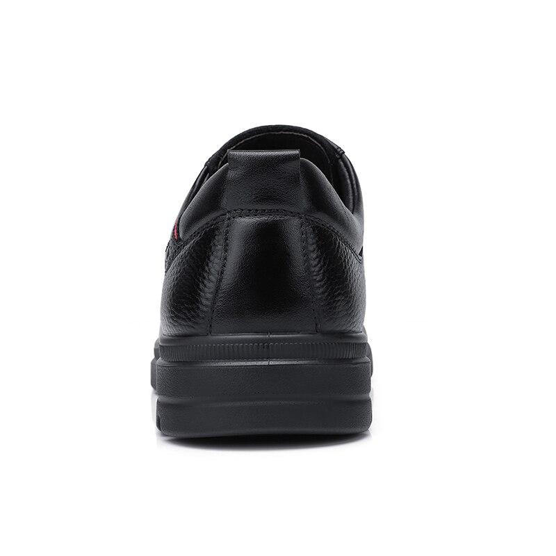 Ayakk.'ten Resmi Ayakkabılar'de DEVE erkek ayakkabısı Iş erkek Rahat Hakiki deri ayakkabı Rahat Kravat Ofis Baba Ayakkabı Yüksek Elastik kaymaz'da  Grup 3