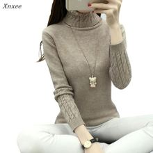 New autumn Winter Women Sweaters and Pullovers Fashion turtleneck Sweater twisted thickening slim pullover sweater